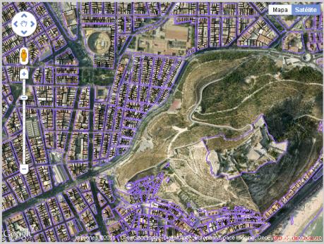Alicante (google maps + catastro)